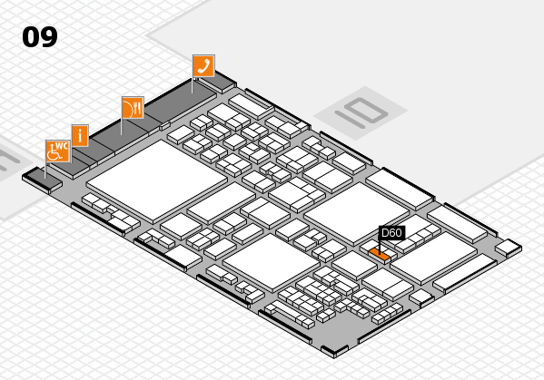 glasstec 2016 hall map (Hall 9): stand D60