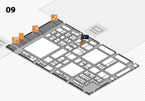 glasstec 2016 hall map (Hall 9): stand F27