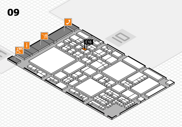 glasstec 2016 hall map (Hall 9): stand E18