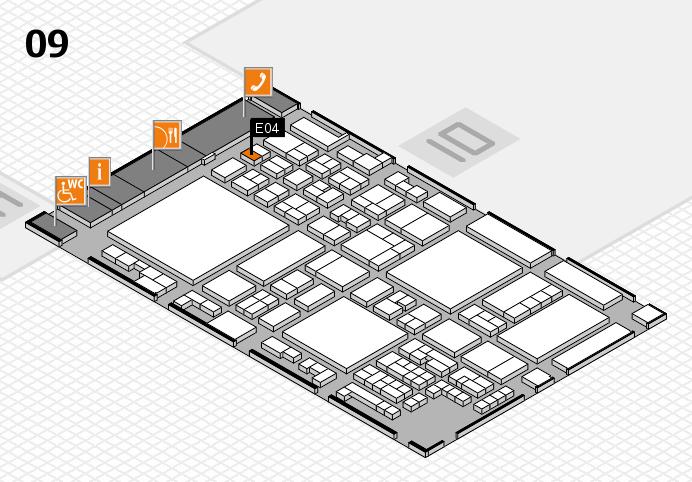 glasstec 2016 Hallenplan (Halle 9): Stand E04