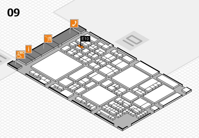 glasstec 2016 hall map (Hall 9): stand E10