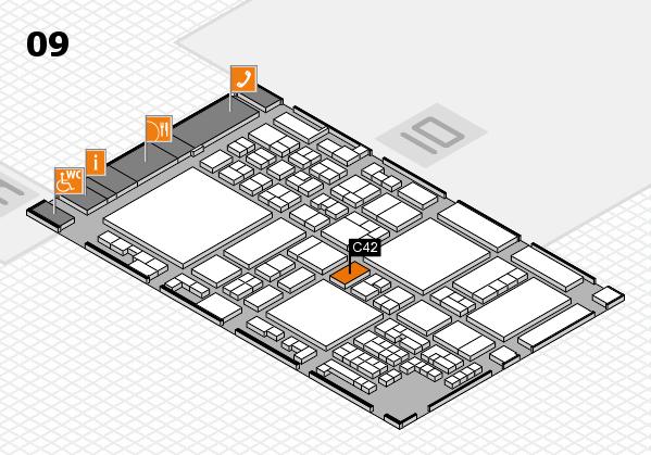 glasstec 2016 Hallenplan (Halle 9): Stand C42