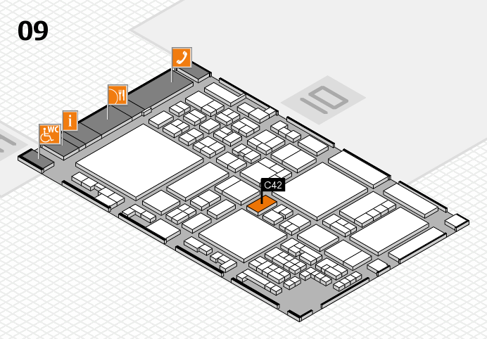 glasstec 2016 hall map (Hall 9): stand C42