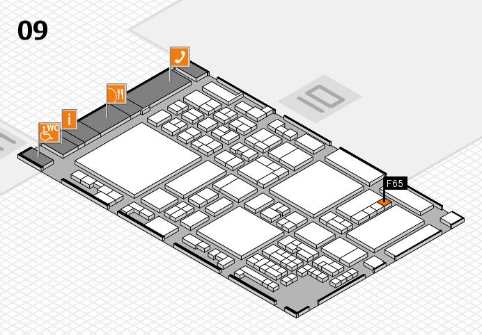 glasstec 2016 hall map (Hall 9): stand F65