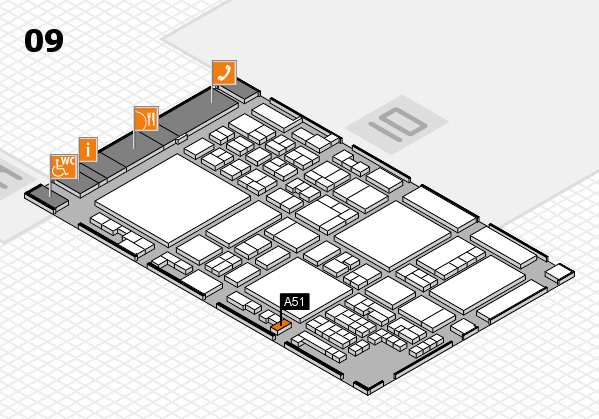 glasstec 2016 hall map (Hall 9): stand A51