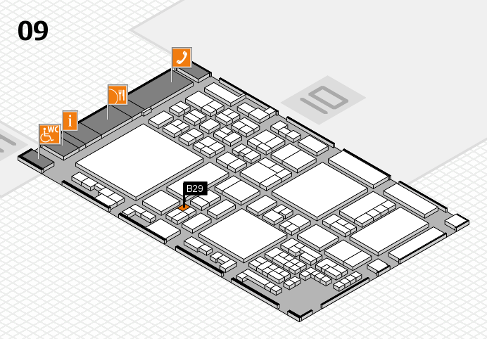 glasstec 2016 hall map (Hall 9): stand B29
