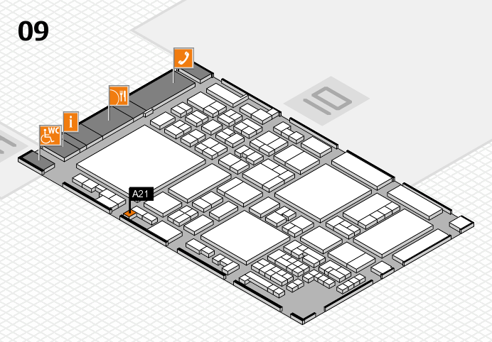 glasstec 2016 hall map (Hall 9): stand A21