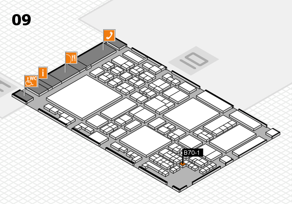 glasstec 2016 hall map (Hall 9): stand B70-1
