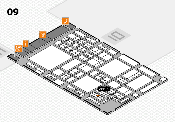 glasstec 2016 hall map (Hall 9): stand A66-5