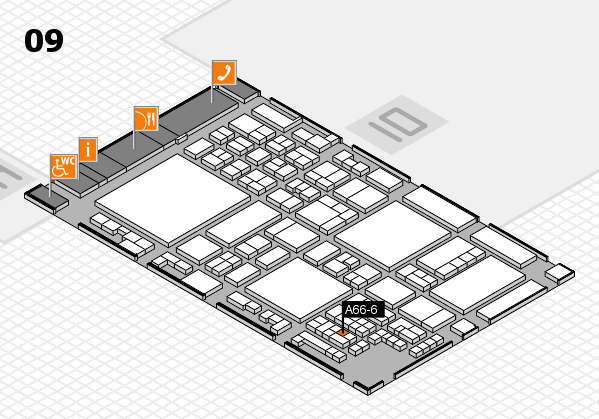 glasstec 2016 hall map (Hall 9): stand A66-6