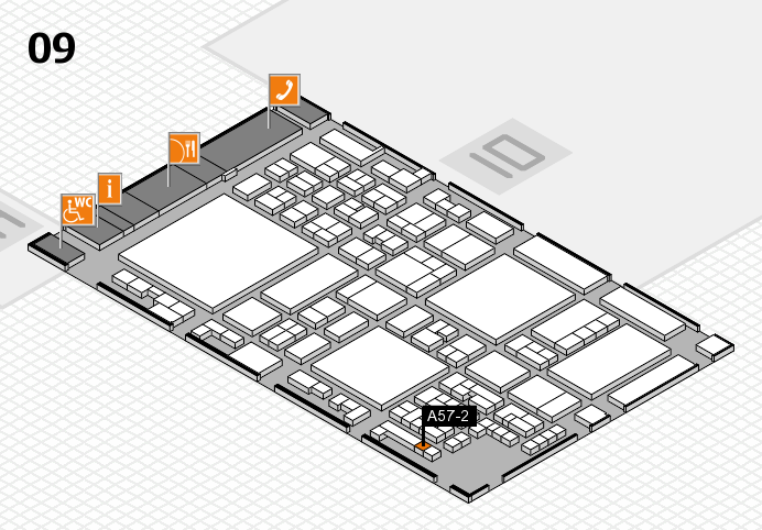 glasstec 2016 hall map (Hall 9): stand A57-2