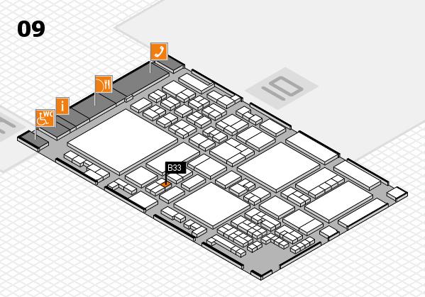 glasstec 2016 Hallenplan (Halle 9): Stand B33