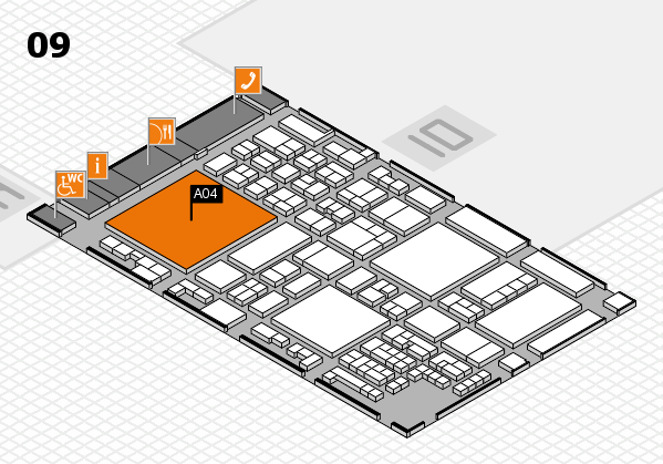 glasstec 2016 hall map (Hall 9): stand A04