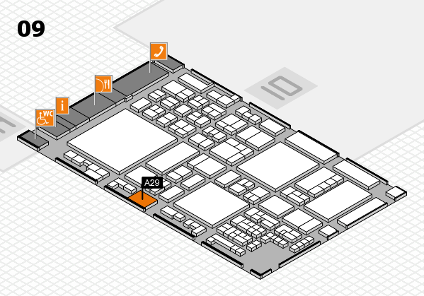 glasstec 2016 hall map (Hall 9): stand A29