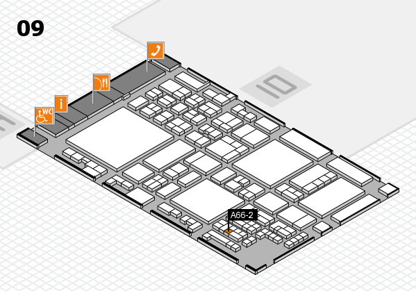 glasstec 2016 hall map (Hall 9): stand A66-2