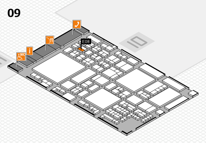 glasstec 2016 hall map (Hall 9): stand E08