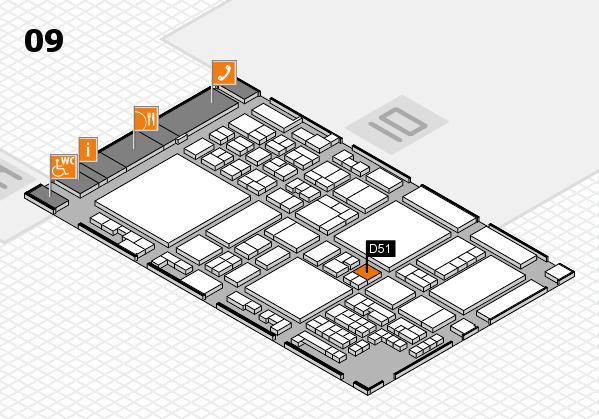 glasstec 2016 Hallenplan (Halle 9): Stand D51