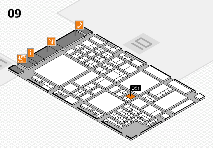glasstec 2016 hall map (Hall 9): stand D51