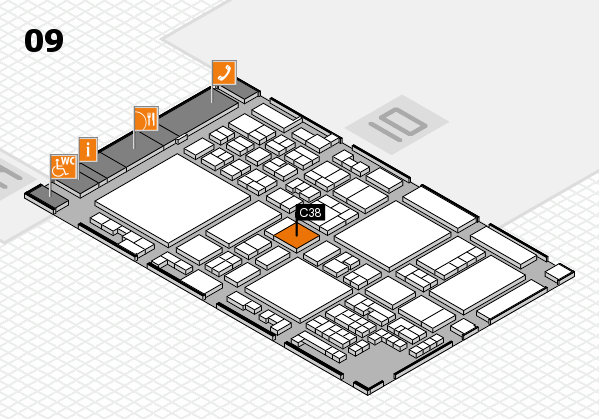 glasstec 2016 hall map (Hall 9): stand C38