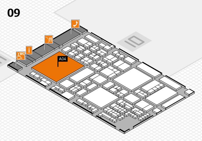 glasstec 2016 hall map (Hall 9): stand A04