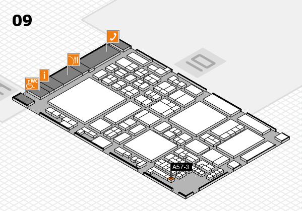 glasstec 2016 Hallenplan (Halle 9): Stand A57-3