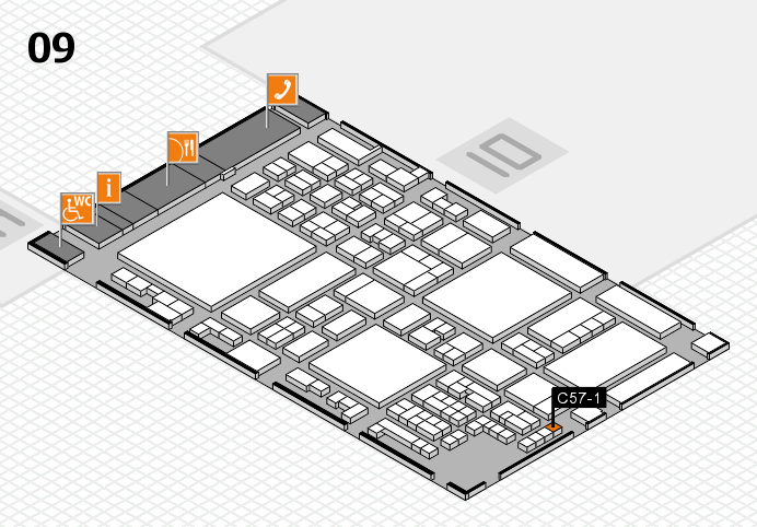 glasstec 2016 hall map (Hall 9): stand C57-1