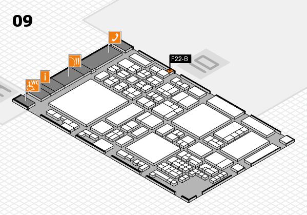 glasstec 2016 hall map (Hall 9): stand F22-B