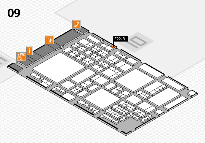 glasstec 2016 hall map (Hall 9): stand F22-B