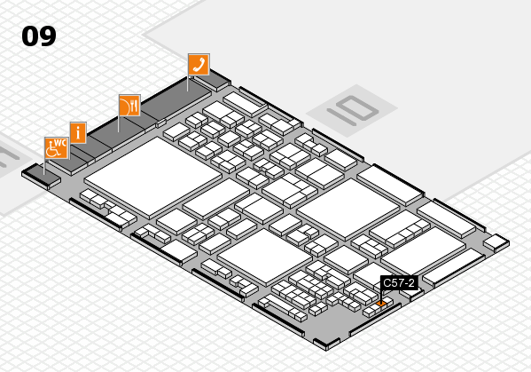 glasstec 2016 Hallenplan (Halle 9): Stand C57-2