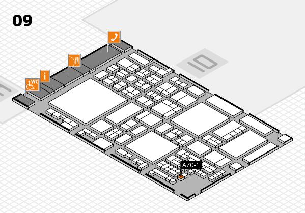 glasstec 2016 Hallenplan (Halle 9): Stand A70-1