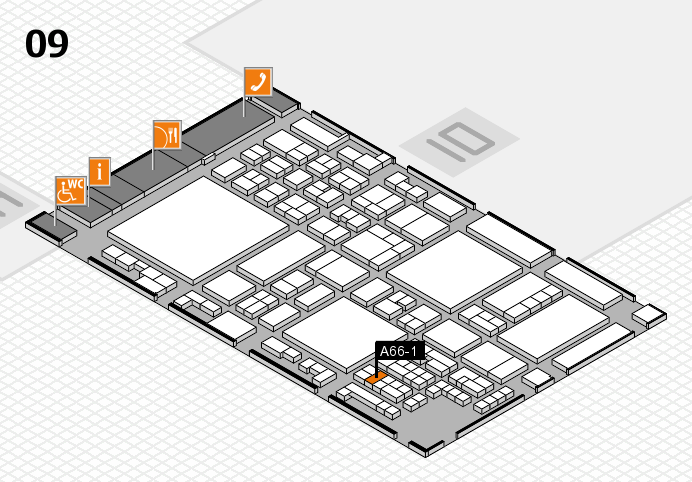 glasstec 2016 hall map (Hall 9): stand A66-1