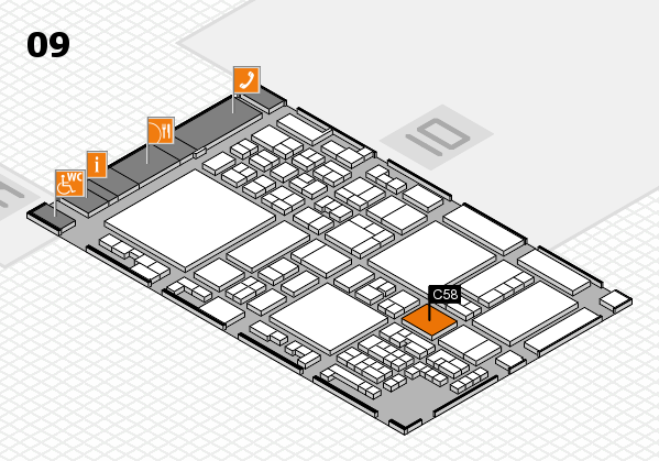 glasstec 2016 hall map (Hall 9): stand C58
