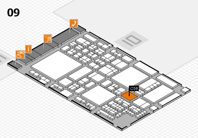 glasstec 2016 hall map (Hall 9): stand C58