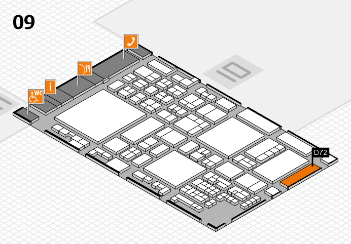 glasstec 2016 hall map (Hall 9): stand D72