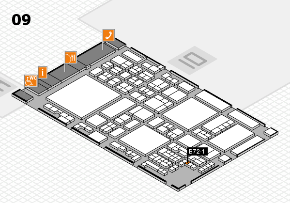 glasstec 2016 hall map (Hall 9): stand B72-1