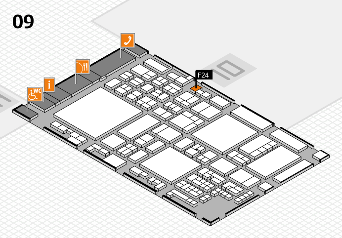 glasstec 2016 hall map (Hall 9): stand F24