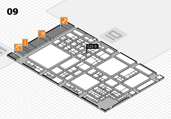 glasstec 2016 hall map (Hall 9): stand E23-B