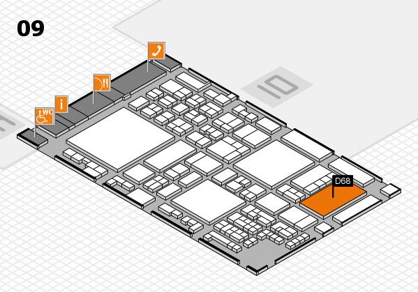 glasstec 2016 Hallenplan (Halle 9): Stand D68
