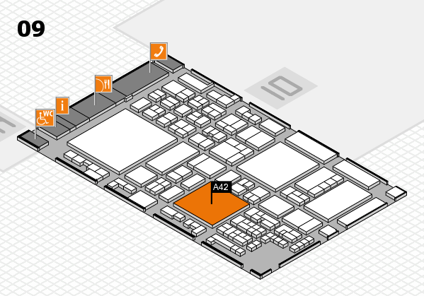 glasstec 2016 hall map (Hall 9): stand A42