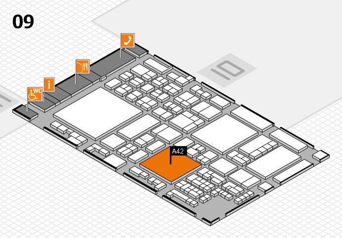 glasstec 2016 hall map (Hall 9): stand A42