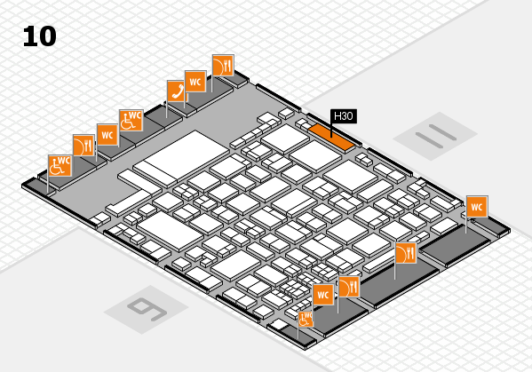 glasstec 2016 hall map (Hall 10): stand H30