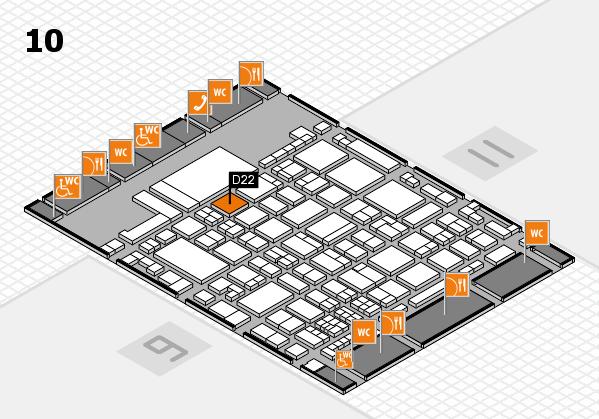 glasstec 2016 hall map (Hall 10): stand D22