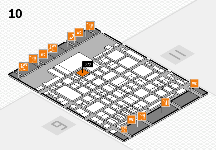 glasstec 2016 hall map (Hall 10): stand D22