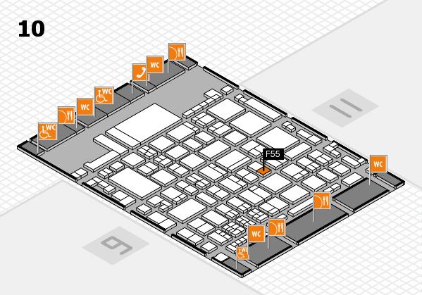 glasstec 2016 hall map (Hall 10): stand F55