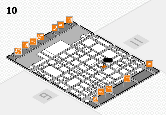 glasstec 2016 hall map (Hall 10): stand F55