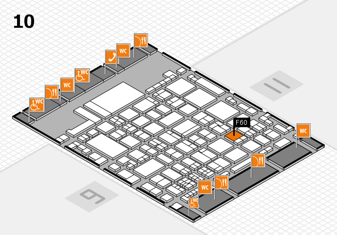 glasstec 2016 hall map (Hall 10): stand F60