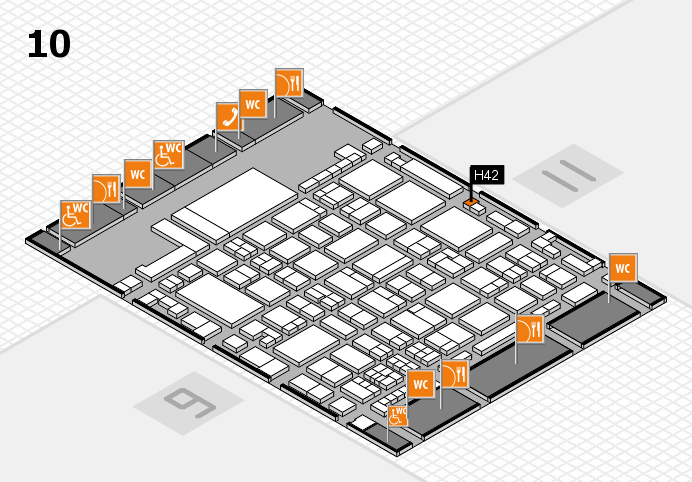 glasstec 2016 hall map (Hall 10): stand H42