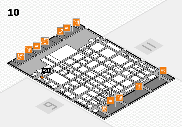 glasstec 2016 hall map (Hall 10): stand A21
