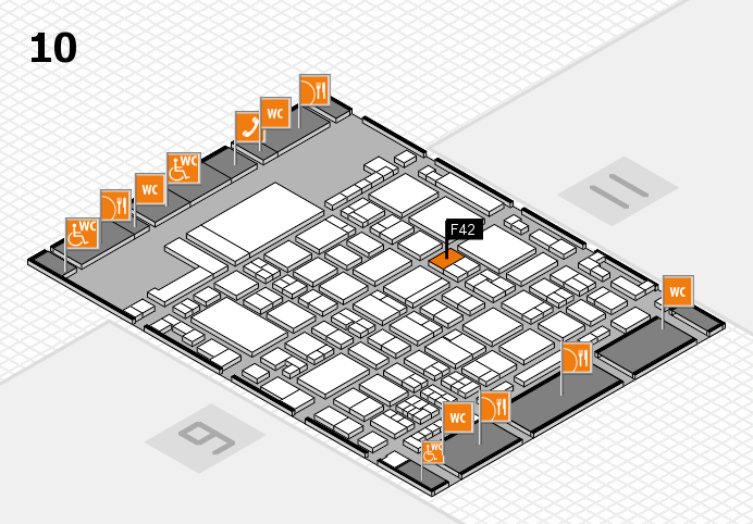 glasstec 2016 hall map (Hall 10): stand F42