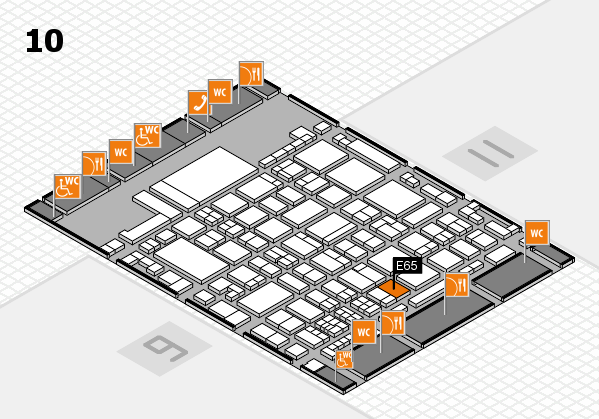 glasstec 2016 hall map (Hall 10): stand E65